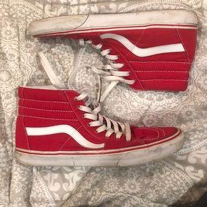 Vans red high tops